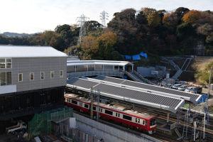 京急線ホームの屋根