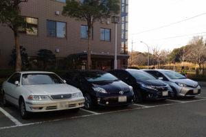 税務署の駐車場は8割方利用