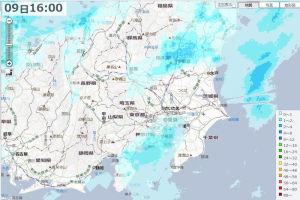 YAHOOの雨雲レーダー