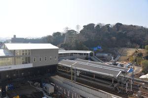 2019年2月20日八景駅周辺の工事