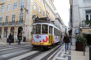 リスボン市内の路面電車