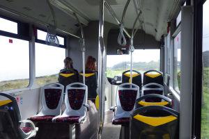 ロカ岬からの帰りのバス内