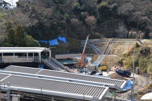 金沢八景西公園(仮称)の工事も
