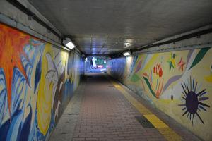 京急金沢八景駅北側の地下道