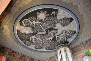 天井の雲龍図