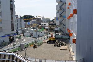 工事中の京急駅ビル