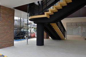 2階への階段も整備