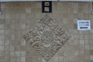 壁面の立派な装飾
