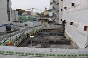 八景駅ビルの増築工事
