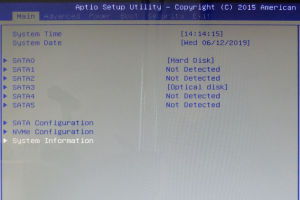Setup Utility画面を立ち上げます