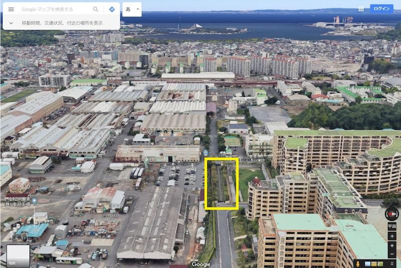 マンション側から見たGoogleマップ