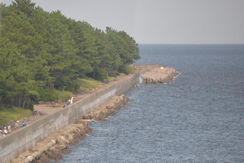 八景島シーパラダイスの対岸の岸壁