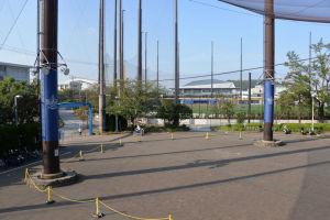 横須賀スタジアムから見える新施設