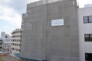 建設中の京急駅ビル