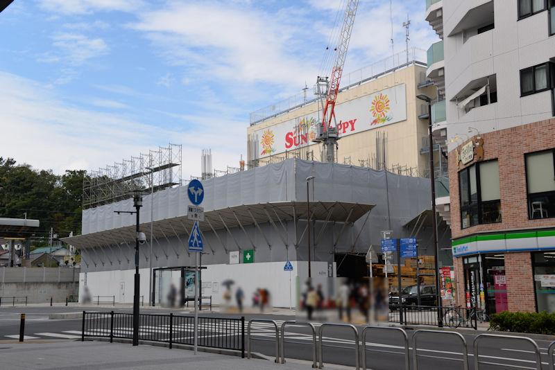 1街区「せとこみち」解体の跡地に建設中の建物