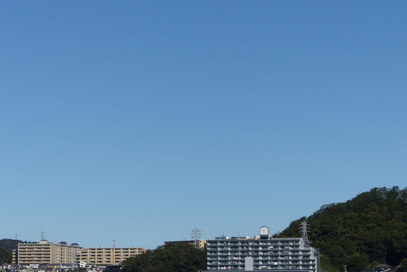 台風一過の秋晴れ