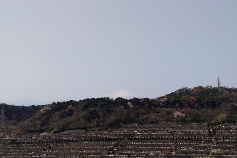 遠くに富士山を望むことができます