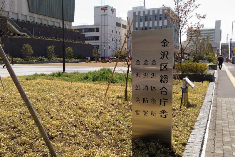 総合庁舎前の広場