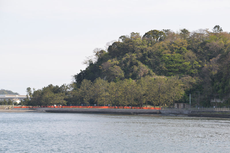 金沢漁港から見た野島海岸