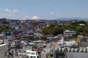 きれいな富士山がみえて