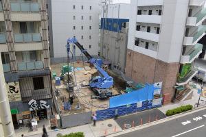 2街区の工事現場