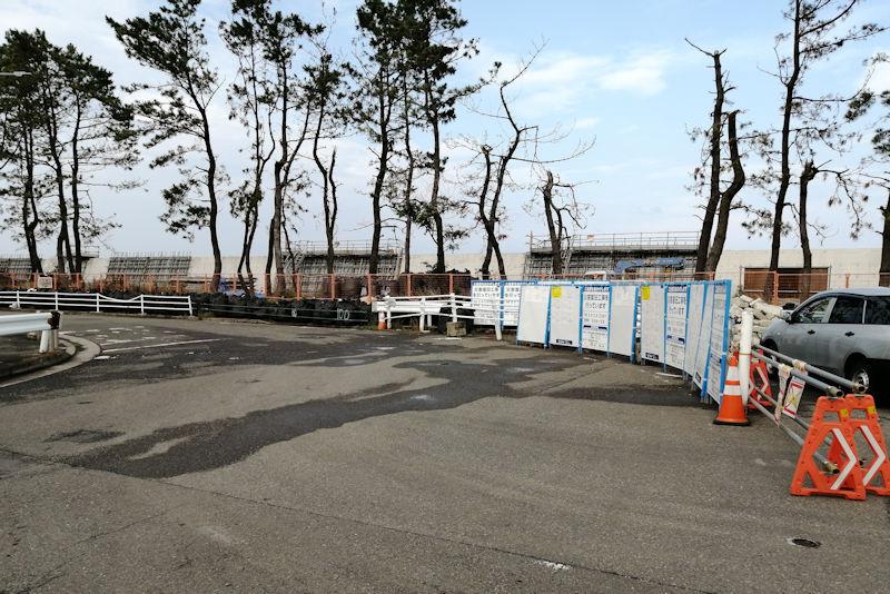 横浜ヘリポートから北に約1.3Km堤防が続いて
