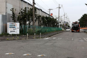 國光横須賀事業所前の道路