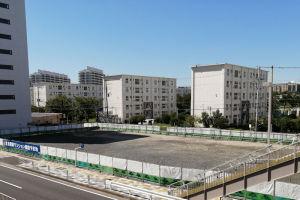 横断幕には京急電鉄マンション建設予定地