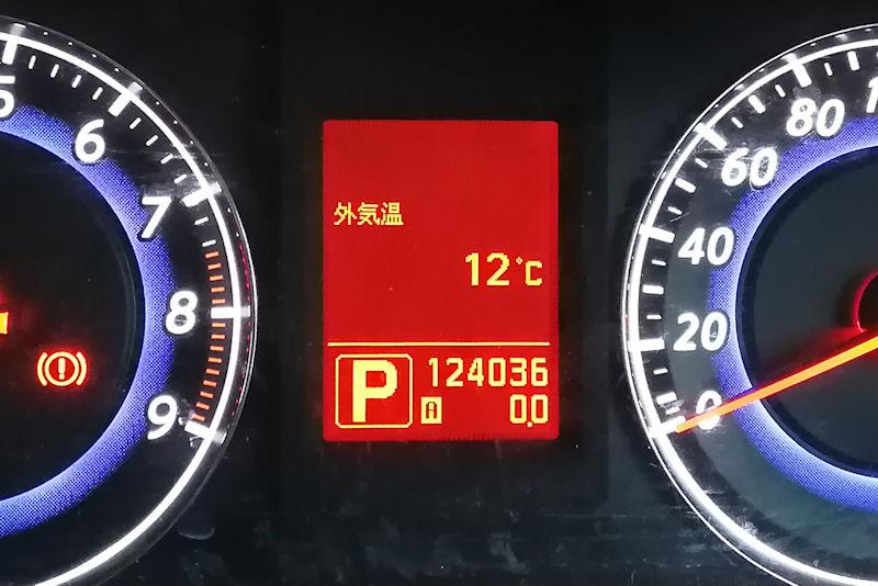車の外気温は12℃