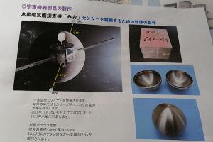 水星磁気圏探査機『みお』のセンサー 格納球体