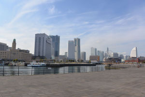 横浜港 象の鼻防波堤からの風景