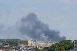 磯子区のクリーニング工場火災