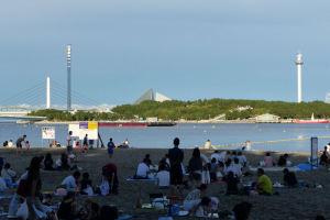 昨日の海の公園花火大会