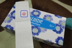 BOXティッシュ1箱プレゼント