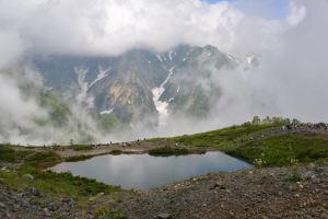 八方尾根ハイク-3 八方池からの景観