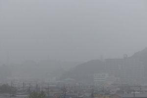 台風19号雨風強くなってきました