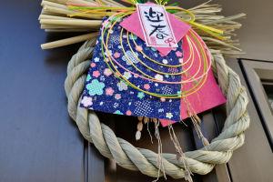 玄関の和飾りの稲穂