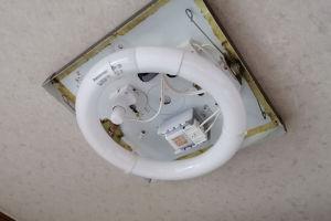 天井に同じ種類の器具が2灯