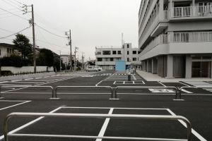 北側の駐車場