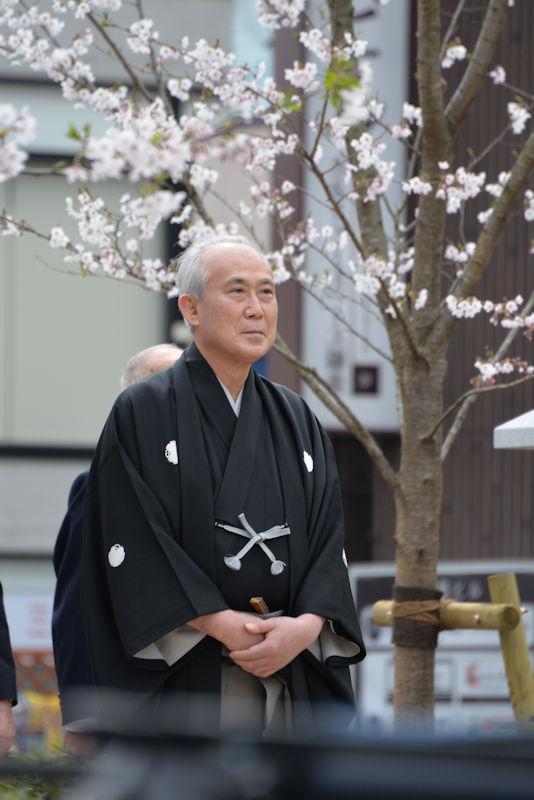歌舞伎役者中村吉右衛門さんの姿が